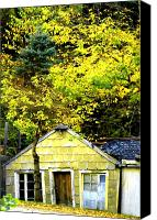 Old Houses Canvas Prints - The Crooked House Canvas Print by Emily Stauring