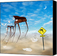 Desert Digital Art Canvas Prints - The Crossing 2 Canvas Print by Mike McGlothlen