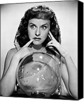 Fod Canvas Prints - The Crystal Ball, Paulette Goddard, 1943 Canvas Print by Everett