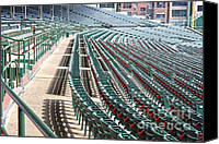 Wrigley Field Canvas Prints - The cupholders are in bloom Canvas Print by David Bearden