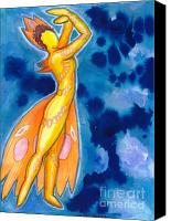 Warm Colors Painting Canvas Prints - The dancer becomes the dance Canvas Print by Mark Stankiewicz