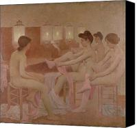 Lamps Painting Canvas Prints - The Dancers Canvas Print by Fernand Pelez