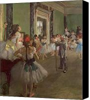 Dance Canvas Prints - The Dancing Class Canvas Print by Edgar Degas