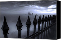 City Of Bridges Photo Canvas Prints - The Dark Night Canvas Print by Jennifer Grover