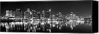 Sydney Skyline Canvas Prints - The Dark side of Town Canvas Print by Mark Lucey