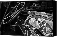 Phyllis Denton Canvas Prints - The Dashboard Black And White Canvas Print by Phyllis Denton