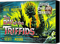 1960s Poster Art Canvas Prints - The Day Of The Triffids, British Poster Canvas Print by Everett
