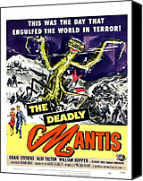 1950s Movies Canvas Prints - The Deadly Mantis, Bottom From Left Canvas Print by Everett