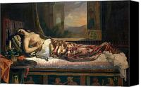 Exposed Canvas Prints - The Death of Cleopatra Canvas Print by German von Bohn