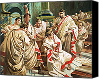 March Canvas Prints - The death of Julius Caesar  Canvas Print by C L Doughty