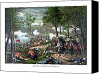 Civil War Painting Canvas Prints - The Death Of Stonewall Jackson Canvas Print by War Is Hell Store
