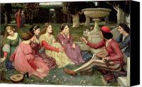 Telling Canvas Prints - The Decameron Canvas Print by John William Waterhouse