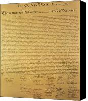 Independence Day Painting Canvas Prints - The Declaration of Independence Canvas Print by Founding Fathers