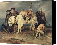 Edwin Canvas Prints - The Deerstalkers Return Canvas Print by Sir Edwin Landseer