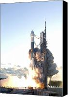 Billows Canvas Prints - The Delta Ii Rocket Lifts Canvas Print by Stocktrek Images