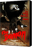 Horror Fantasy Movies Canvas Prints - The Demon, Poster Art, 1979 Canvas Print by Everett