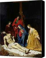Magdalene Canvas Prints - The Descent from the Cross Canvas Print by Nicolas Tournier
