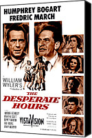 1950s Poster Art Canvas Prints - The Desperate Hours, Humphrey Bogart Canvas Print by Everett