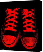Jogging Canvas Prints - The Devil Wears Converse Canvas Print by Ed Smith