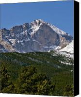 Colorado Mountains Canvas Prints - The Diamond on Longs Peak in Rocky Mountain National Park Colorado Canvas Print by Brendan Reals