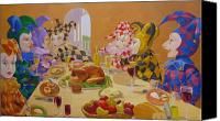 Leonard Filgate Canvas Prints - The Dinner Party Canvas Print by Leonard Filgate