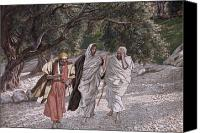 Appearance Canvas Prints - The Disciples on the Road to Emmaus Canvas Print by Tissot