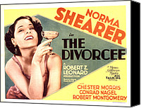 Posth Canvas Prints - The Divorcee, Norma Shearer, 1930 Canvas Print by Everett