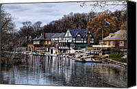 Boathouse Row Canvas Prints - The Docks at Boathouse Row - Philadelphia Canvas Print by Bill Cannon