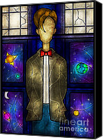 Tardis Canvas Prints - The Doctor Canvas Print by Mandie Manzano
