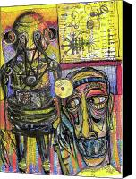 Neo Expressionism Canvas Prints - The Doctor Canvas Print by Robert Wolverton Jr