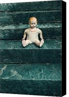 Eerie Canvas Prints - The Doll Canvas Print by Joana Kruse