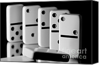 Analogy Photo Canvas Prints - The Domino Effect Canvas Print by Charles Dobbs