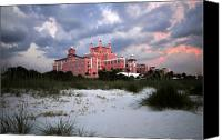 Gulf Of Mexico Canvas Prints - The Don Cesar Canvas Print by David Lee Thompson