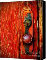 Peeling Canvas Prints - The Door Handle  Canvas Print by Tara Turner