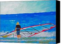 Wind Surfing Art Painting Canvas Prints - The Dreamer Disease I Canvas Print by Ralph Mantia Sr