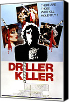 Horror Movies Canvas Prints - The Driller Killer, Abel Ferrara, 1979 Canvas Print by Everett
