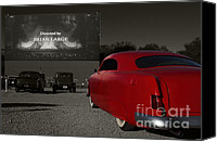 Drive Canvas Prints - The Drive-In Canvas Print by Dennis Hedberg