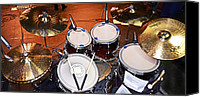 Drum Set Canvas Prints - The Drum Set Canvas Print by Paul Mashburn