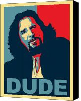 Hope And Change Canvas Prints - The Dude Abides Canvas Print by Christian Broadbent