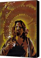 Paint Canvas Prints - The Dude Canvas Print by Iosua Tai Taeoalii