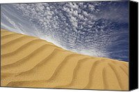 Desert Digital Art Canvas Prints - The Dunes Canvas Print by Mike McGlothlen