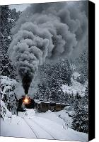 Rail Vehicles Canvas Prints - The Durango & Silverton Narrow Gauge Canvas Print by Paul Chesley