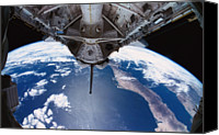 Challenge Canvas Prints - The Earth Viewed From The Space Shuttle Canvas Print by Stockbyte