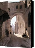 Ecce Canvas Prints - The Ecce Homo Arch, A Sacred Religous Canvas Print by Hans Hildenbrand