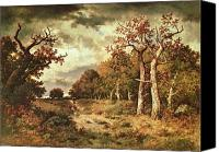 Storm Painting Canvas Prints - The Edge of the Forest Canvas Print by Narcisse Virgile Diaz de la Pena