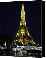 River View In Paris Canvas Prints - The Eiffel Tower at night Canvas Print by Ilse Sears