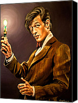 Sonic Canvas Prints - The Eleventh Doctor Canvas Print by Emily Jones