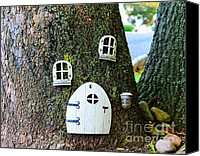 Fantasy Canvas Prints - The Elf House Canvas Print by Paul Ward
