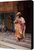 Orientalist Canvas Prints - The Emir Canvas Print by Ludwig Deutsch
