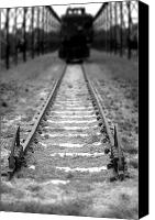 Safety Canvas Prints - The End of the Line Canvas Print by Olivier Le Queinec